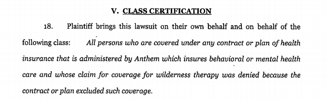 insurance covered wilderness programs